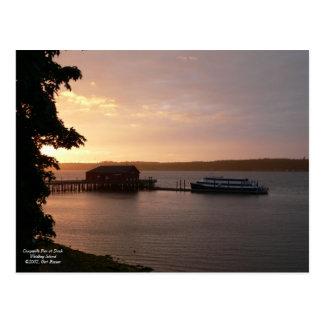 Coupeville Pier at Dusk Postcard