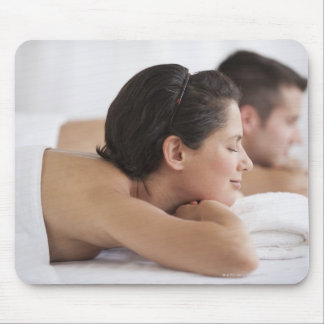 Couple at spa mouse pad