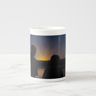 Couple at sunset, on bone China Tea Cup