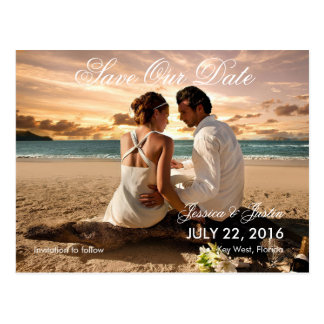 Couple Beach Love Relationships/Save The Date Postcard