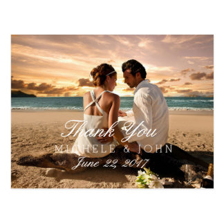 Couple Beach Love Relationships/Thank You Postcard