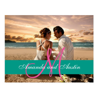 Couple Beach Love Relationships/Wedding invitation Postcard
