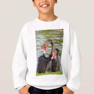 Couple black swans sweatshirt