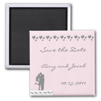 Couple cake topper save the date magnet