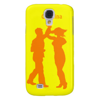 Couple Dance Spin Silhouette Personalized Cover Galaxy S4 Covers