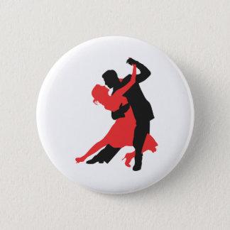 couple dancing 6 cm round badge
