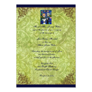 Couple Day of the Dead Wedding Invitation