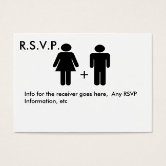 Couple Diagram Funny  RSVP Card