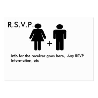 Couple Diagram Funny  RSVP Card Business Card