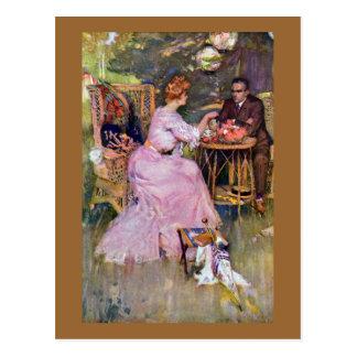 Couple Dining Al Fresco Postcard