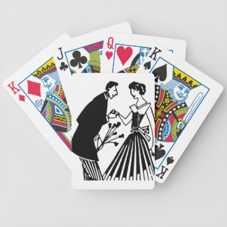 Couple Drawing Bicycle Playing Cards