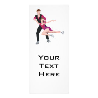 couple figure skating illustration rack card template