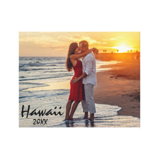 Couple Honeymoon Photo Canvas