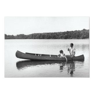 Couple in a Canoe Card