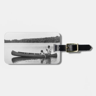 Couple in a Canoe Luggage Tag