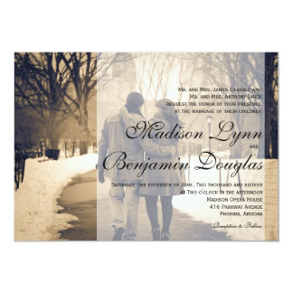 Couple in love at the park/Wedding Invitation