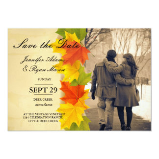 Couple in love at the park winter/fall theme card