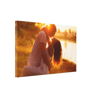 Couple in love, in dawn light by healinglove canvas prints
