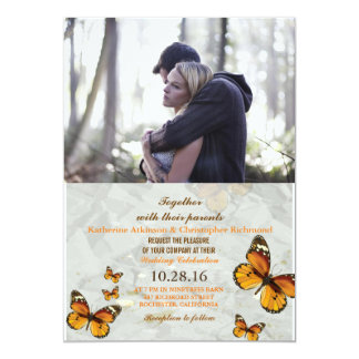Couple In Love Tenderly Embraces/butterfly Card