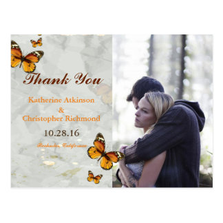 Couple In Love Tenderly Embraces/butterfly Postcard