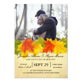 Couple In Love Tenderly Embraces/fall theme Card