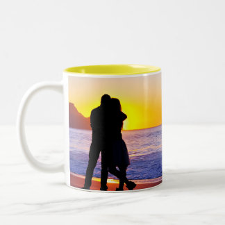 Couple In Love Two Tone Coffee Mug