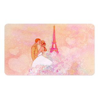 couple in paris Business Card