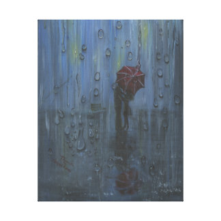 couple in the rain canvas print