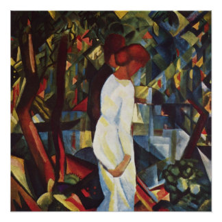 Couple in the Woods by August Macke Poster