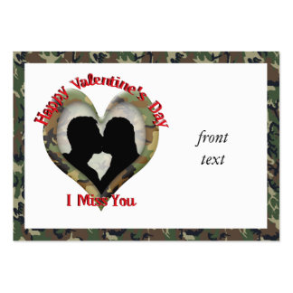 Couple Kissing  - I missing you on Valentine's Day Business Card