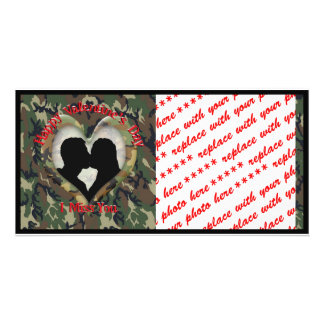 Couple Kissing  - I missing you on Valentine's Day Custom Photo Card