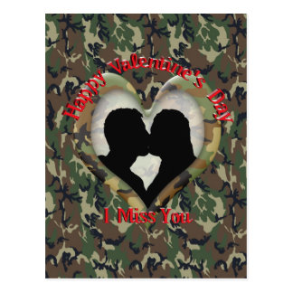 Couple Kissing  - I missing you on Valentine's Day Postcard