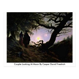 Couple Looking At Moon By Caspar David Friedrich Postcard