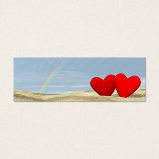 Couple love under rainbow - 3D render Mini Business Card