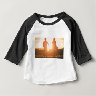 Couple lovers engagement sunset baby T-Shirt