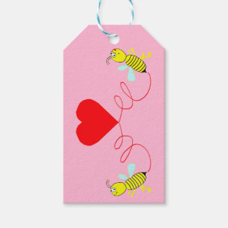 couple of bees gift tags