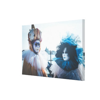 Couple of carnival masks in Venice, Italy Canvas Print