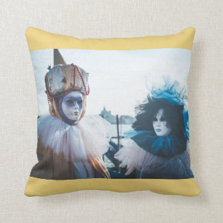 Couple of carnival masks in Venice, Italy Cushion