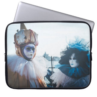 Couple of carnival masks in Venice, Italy Laptop Sleeve