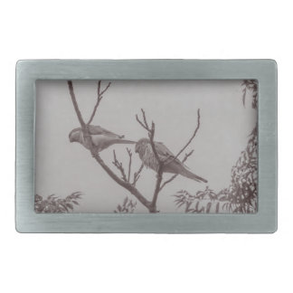 Couple of Parrots in the Top of a Tree Belt Buckle