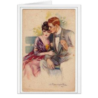Couple on a Park Bench, Card
