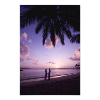 Couple on beach, Windjammer Landing, St. Lucia Photograph