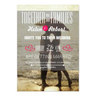 Couple on the beach 13 cm x 18 cm invitation card