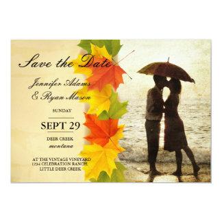 Couple on the beach/fall theme card