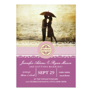 Couple on the beach/pink theme card