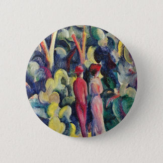 Couple on the Forest Track by August Macke 6 Cm Round Badge