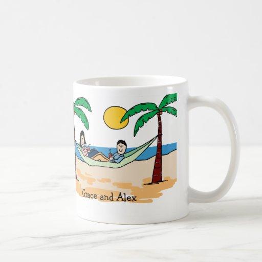 Couple on vacation mug