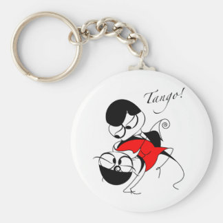 couple performing a tango step key ring