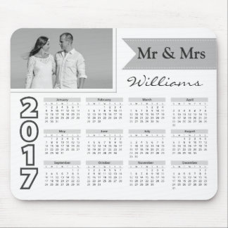 Couple Photo | Black and White 2017 Calendar Mouse Pad