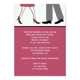 Couple Post Wedding Brunch Card